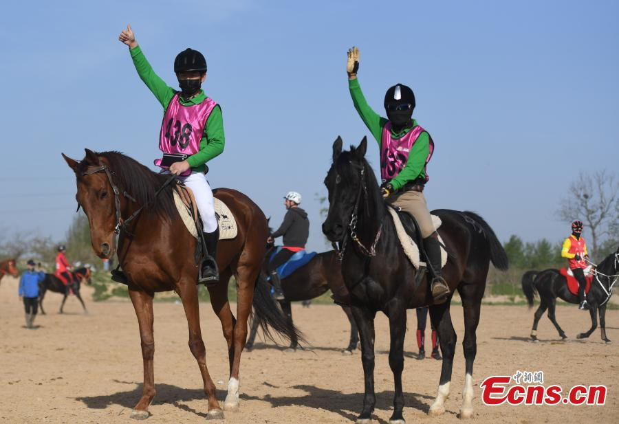 Over 100 compete in equestrian endurance in Anhui