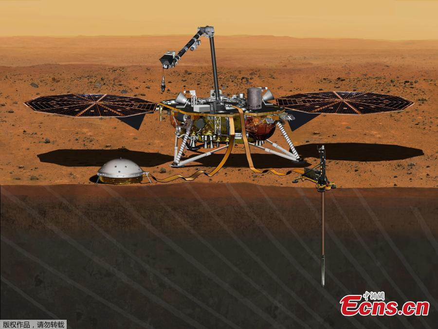 NASA Mars lander prepares for liftoff