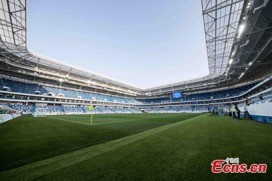Russia's new World Cup stadium hosts test match