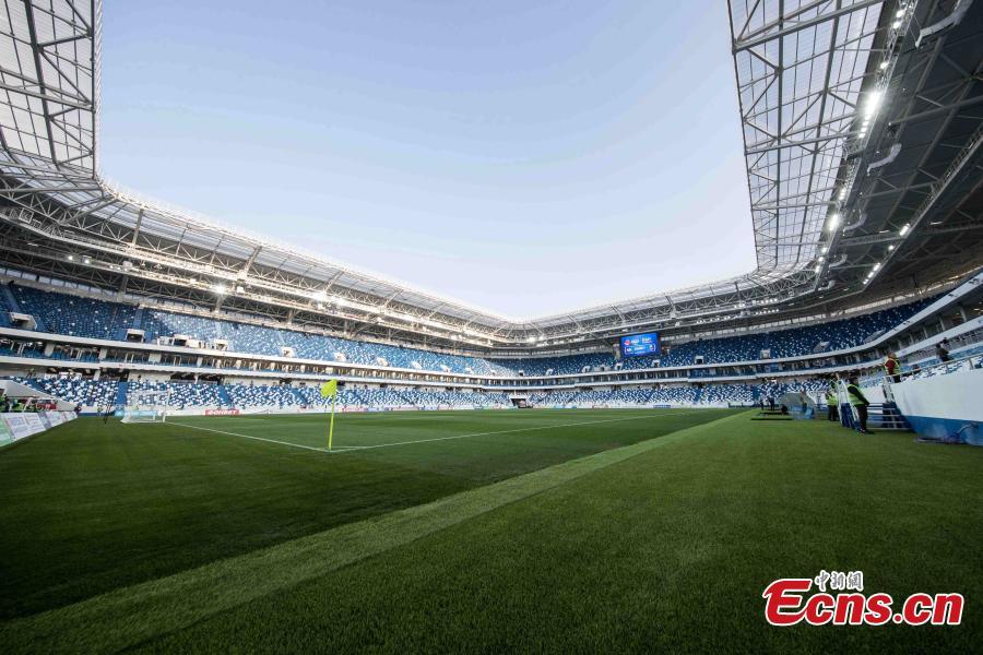 Russia's new World Cup stadium hosts test match