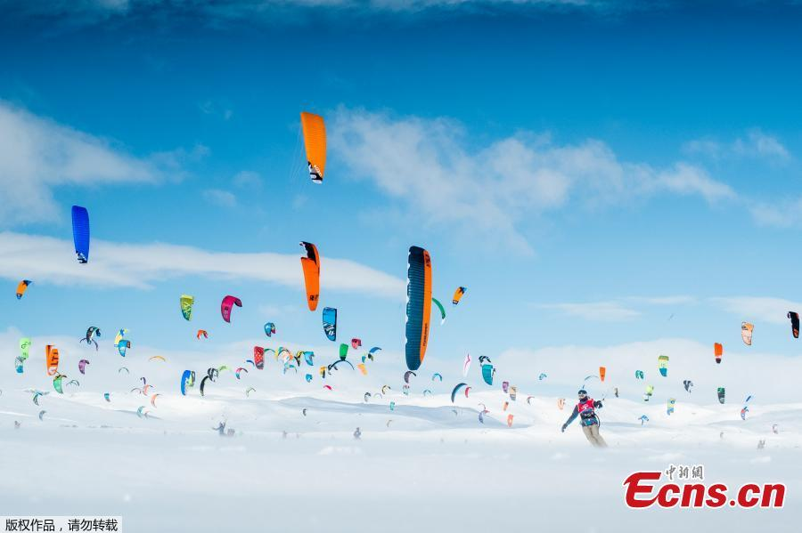Go fly a kite — on ice: Norway hosts annual snowkiting competition