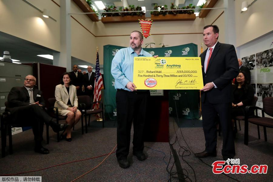 New Jersey's Richard Wahl wins $533 million Mega Millions Lottery