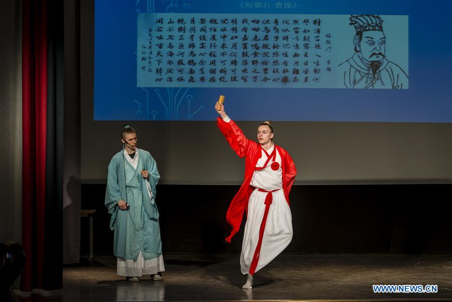 'Chinese Bridge' language competition for Swedish students held in Stockholm