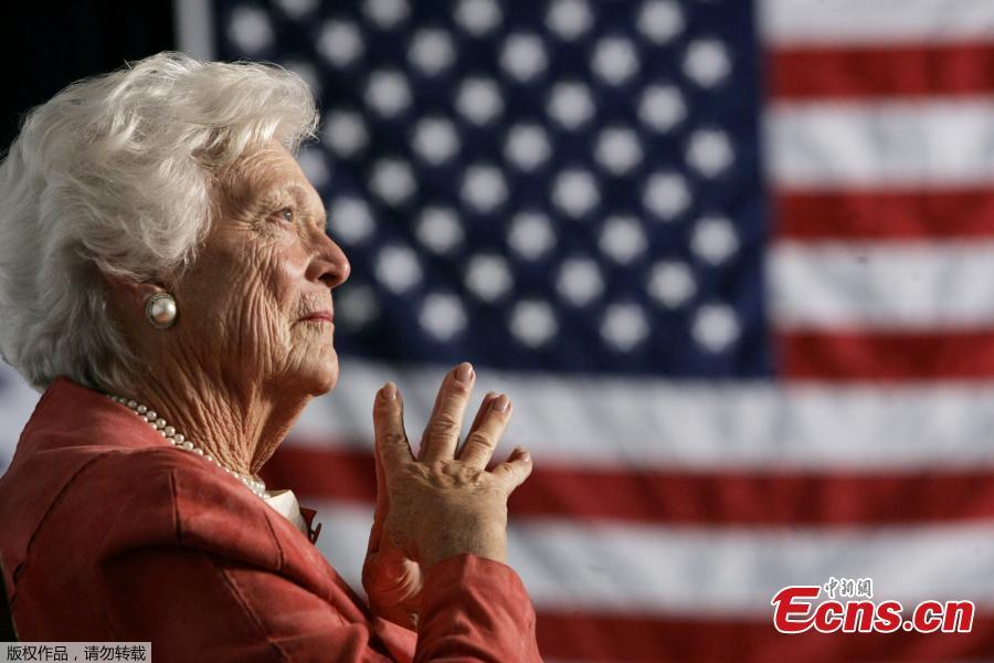 Former U.S. first lady Barbara Bush dies at 92