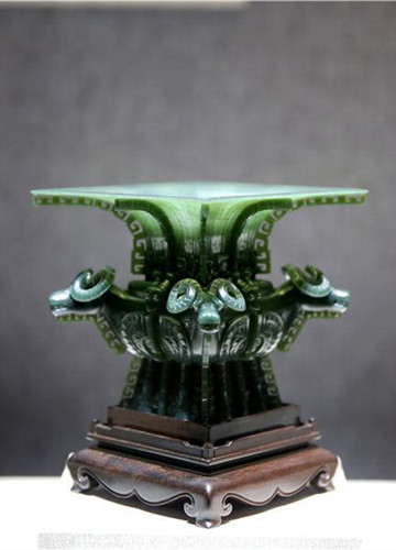 Exhibition showcases jade versions of ancient bronze objects