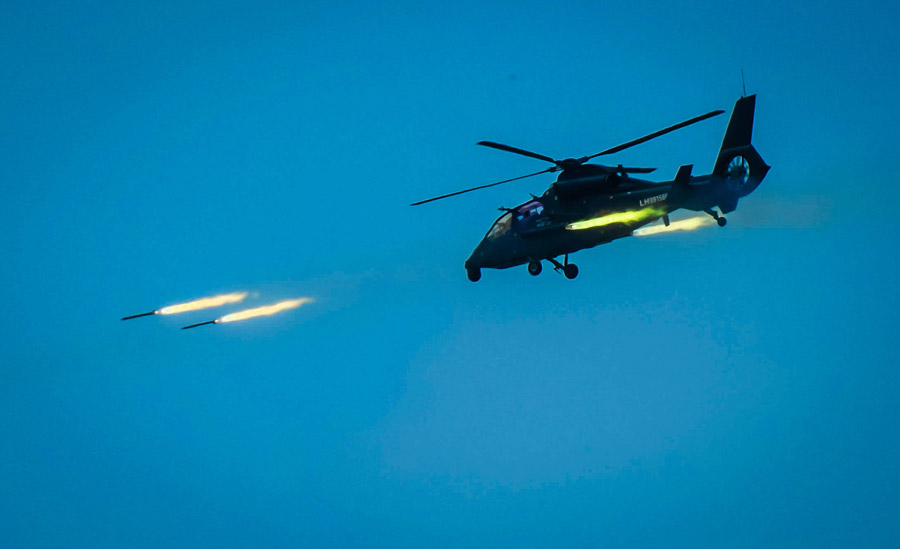 PLA's aviation brigade holds live-fire exercise