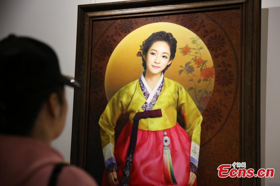 Harbin hosts DPRK oil paintings show
