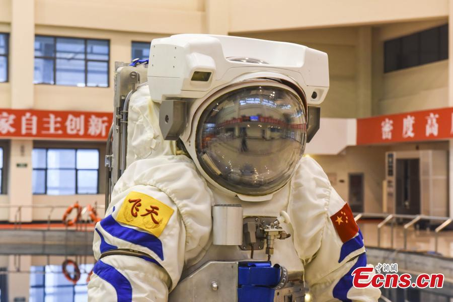 Underwater training suit for astronaut on first show