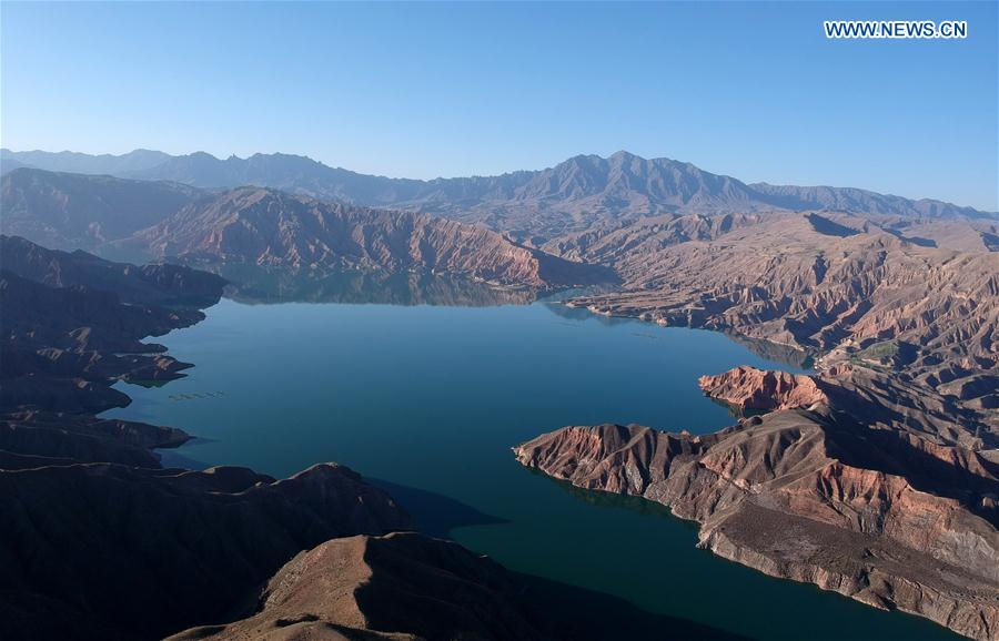 Aerial view of Kanbula national park in Qinghai
