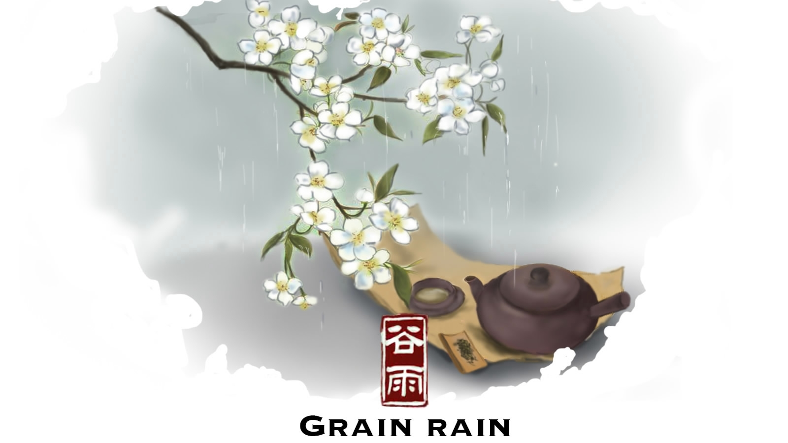 Grain Rain: A final spring party with the peony, tea and rain(1/7)