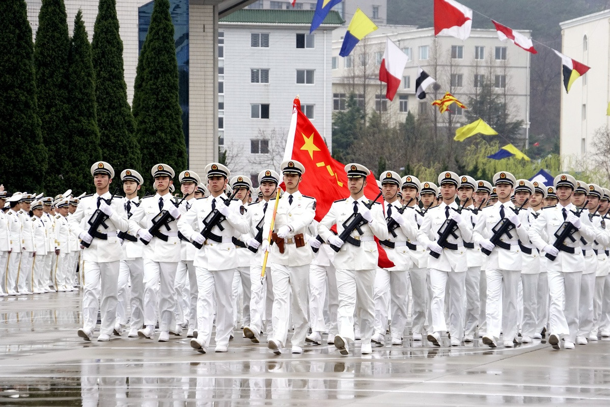 Dalian Naval Academy celebrates 69th anniversary of PLA Navy