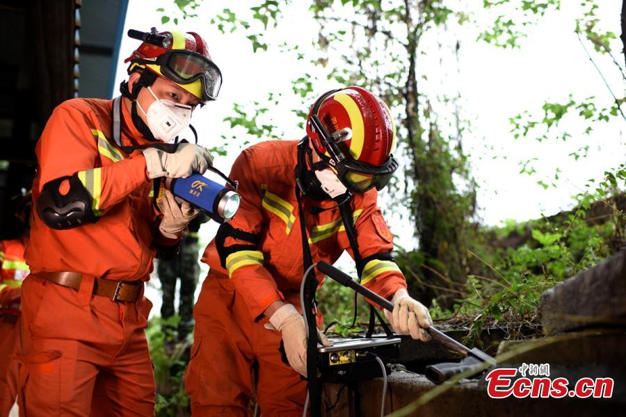 Earthquake response drill held in Sichuan