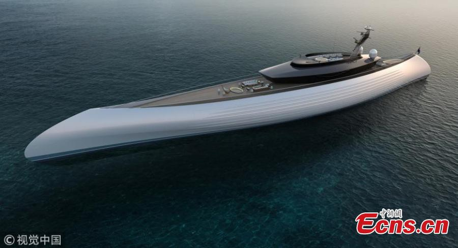 Superyacht Tuhura reminiscent of early canoes