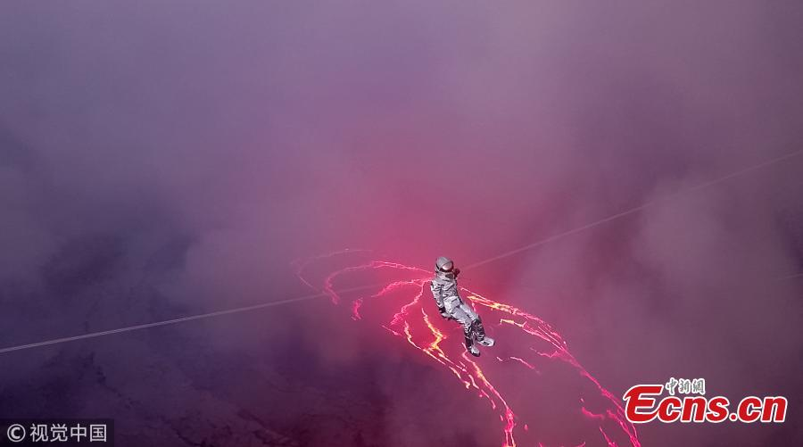 Karina Oliani: The first woman to zipline across lava lake