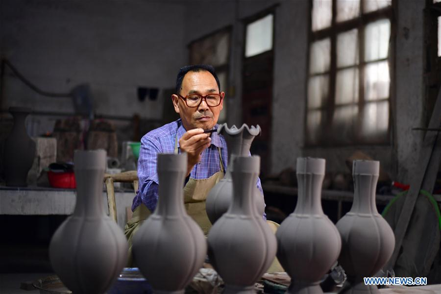 Ru porcelain making in China's Henan