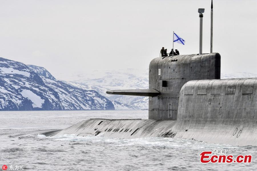 K-18 nuclear submarine in Barents Sea drill