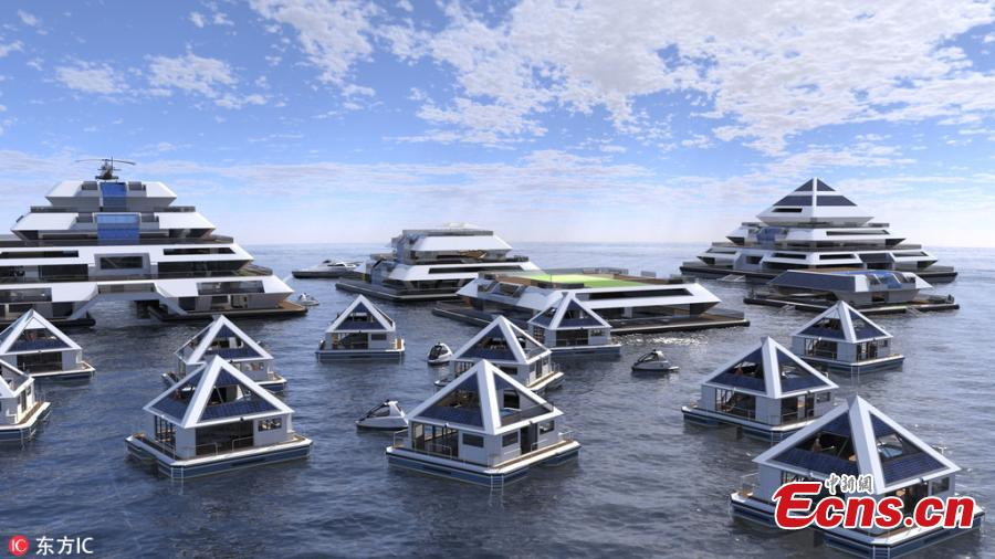 Italian design company to build 'floating pyramid homes'