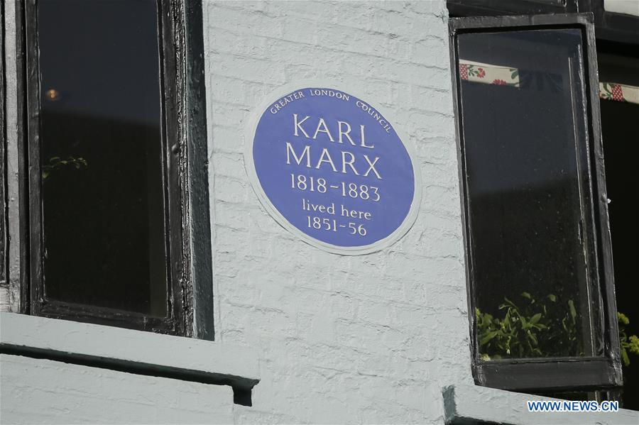 Apartment where Karl Marx lived in London