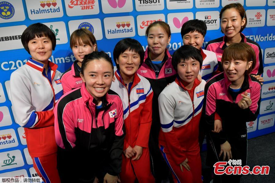 Table Tennis: Koreas form unified team at world championships