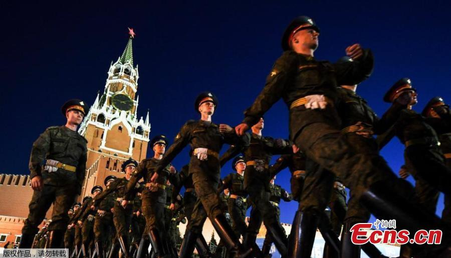 Victory Day military parade rehearsal in Moscow
