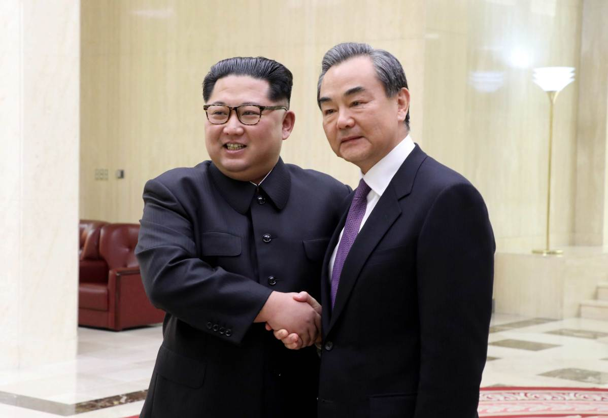 Chinese FM, DPRK top leader discuss ties