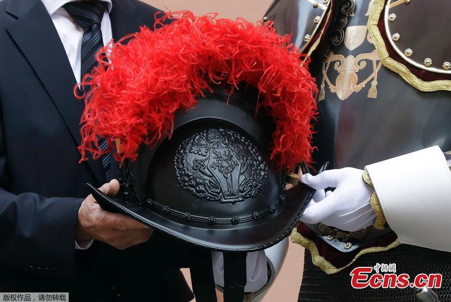 The Swiss Guard unveil new 3D-printed plastic helmets