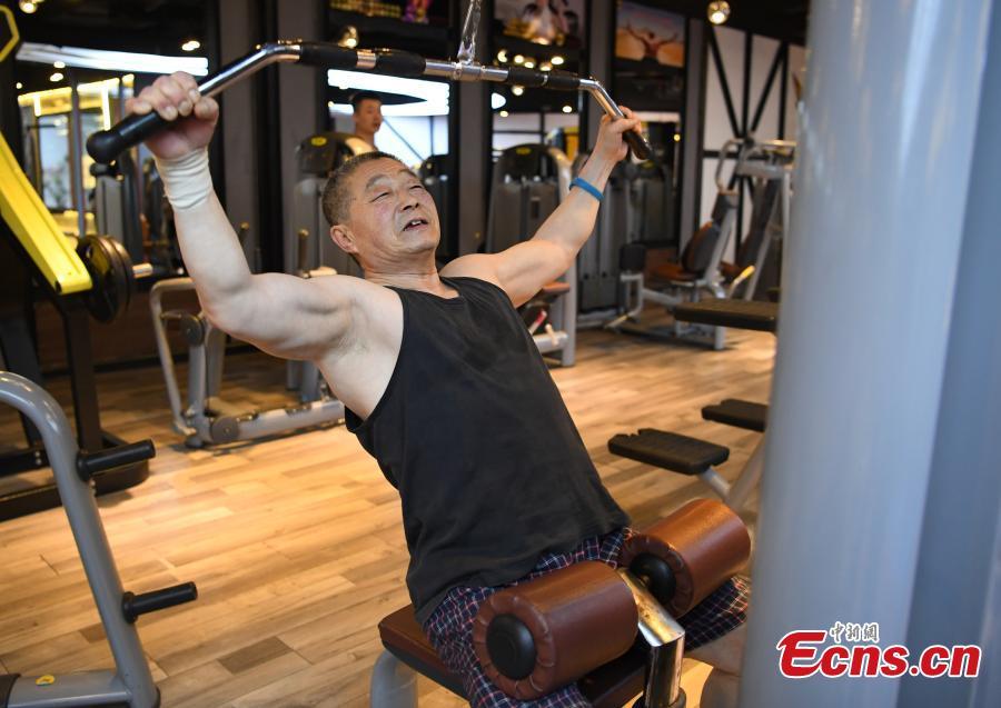 Cancer survivor, 70, role model at gym
