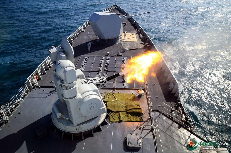 Navy destroyer fleet in live-fire drill