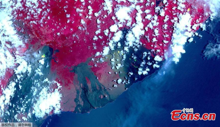 NASA satellite images show fissures from Hawaii volcano