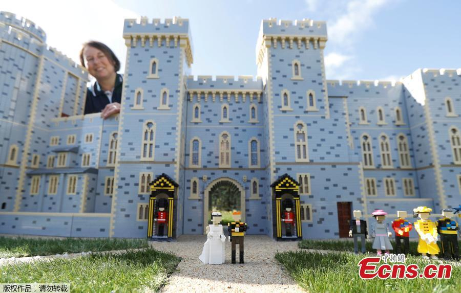 Windsor Castle made from LEGO ahead of royal wedding