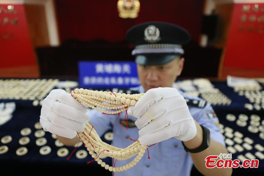 2 suspects held in major ivory smuggling case in Guangzhou