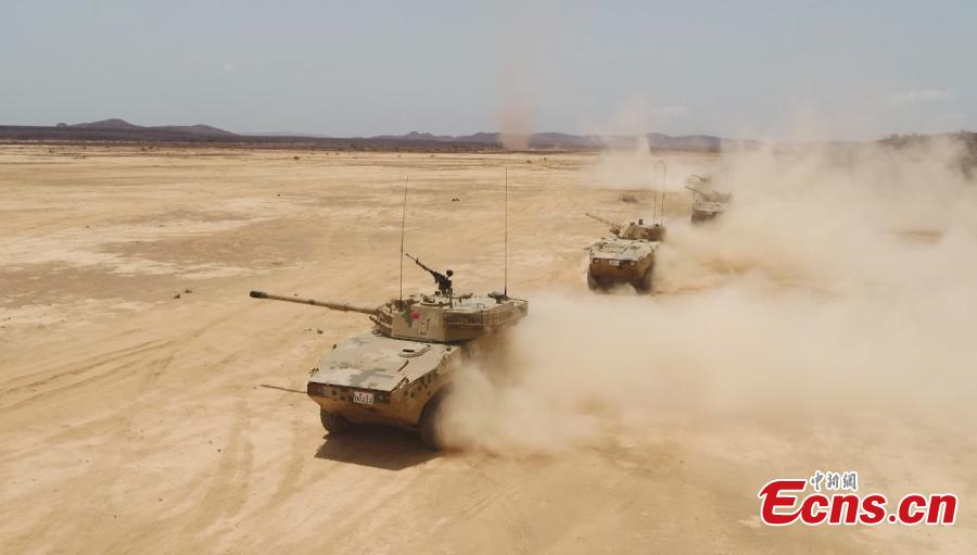 PLA base in Djibouti conducts anti-terrorism drill