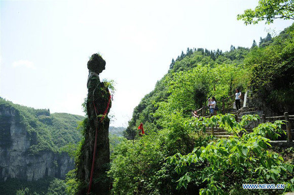Mercury mine site converted into tourist attraction in Guizhou