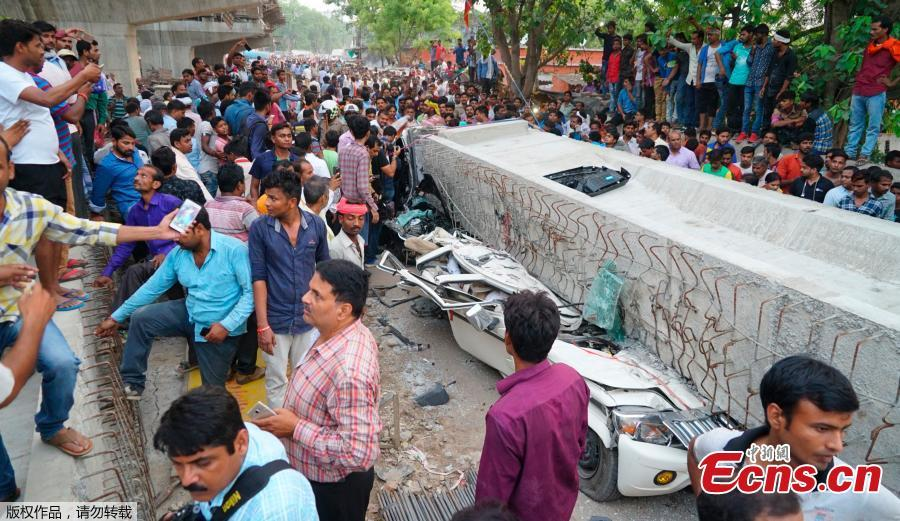 India overpass collapse kills at least 16