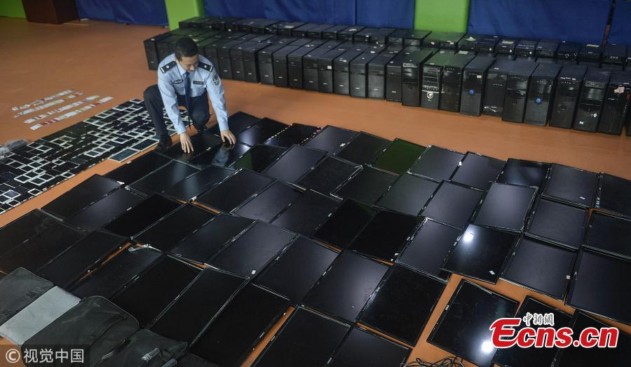 26 suspects caught in 120m-yuan online fraud