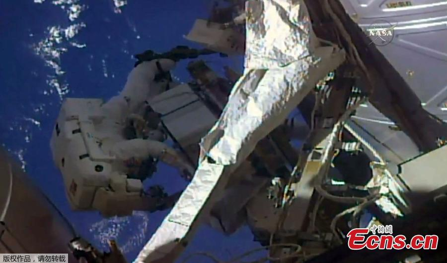 NASA astronauts spacewalk to repair, upgrade space station