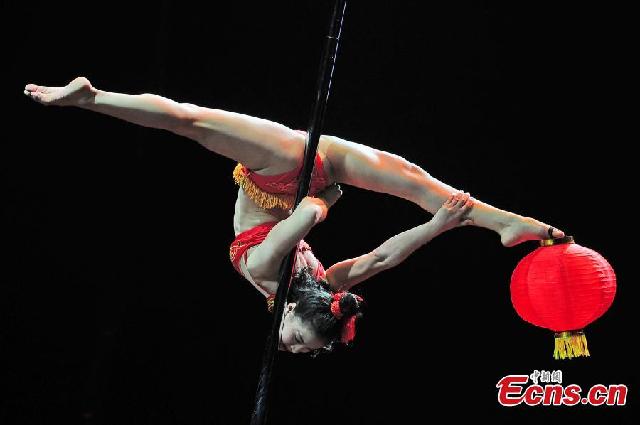 Ke Hong wins men's singles in world pole dancing contest