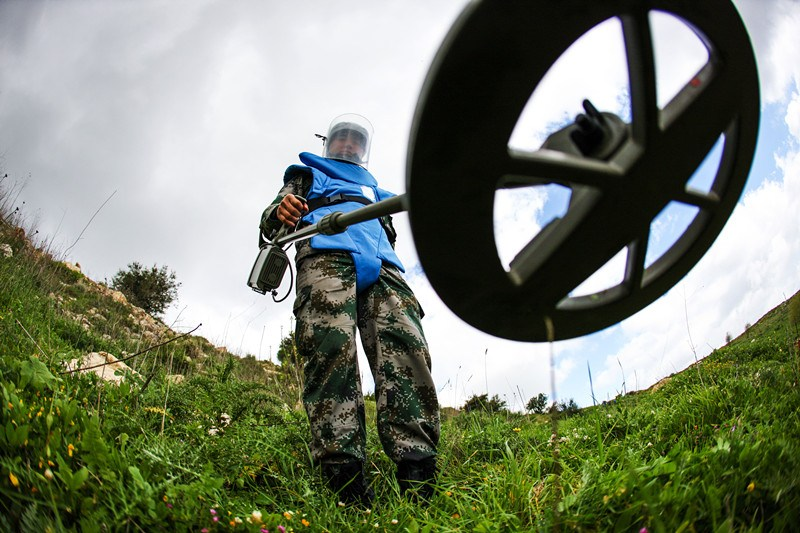 Chinese peacekeepers clear 9,719 landmines in Lebanon