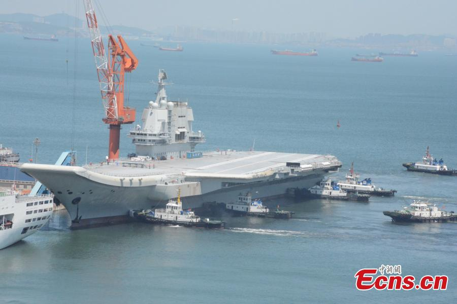 Aircraft carrier wraps up debut voyage