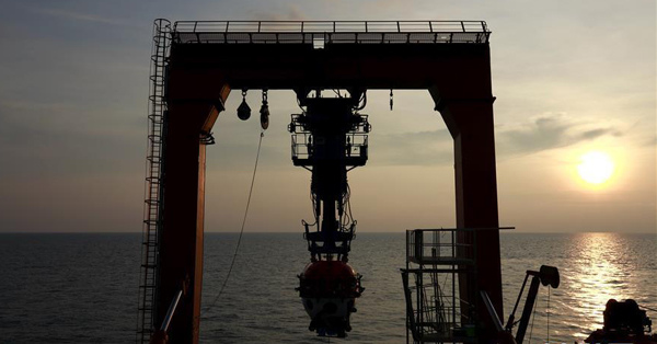 Maned submersible probes South China Sea