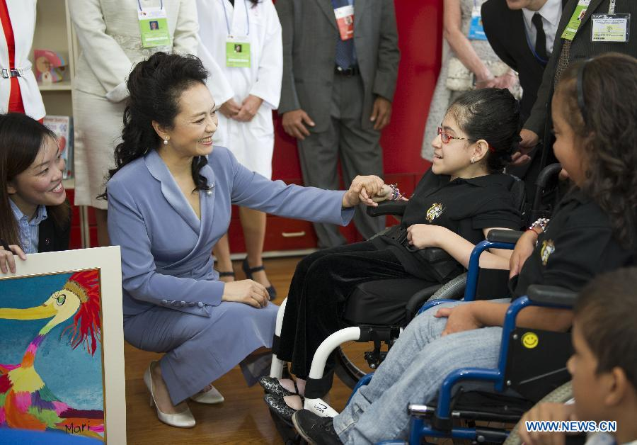 Wife of Chinese President visits National Children's Hospital of Costa Rica