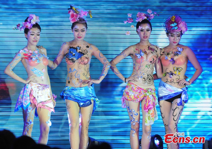 Models With Body Painting Highlight Shenyang Intl Auto Show Headlines Features Photo And Videos From Ecns Cn China News Chinanews Ecns Cns