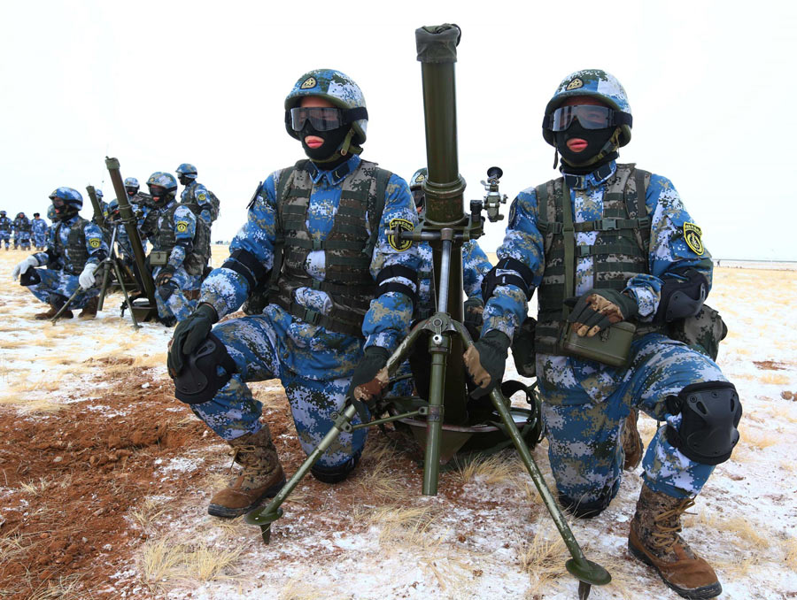 Chinese marines train in deep freeze (1/7) - Headlines ...