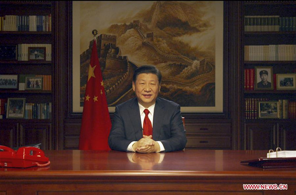 Xi demonstrates China's role as responsible country in New Year address