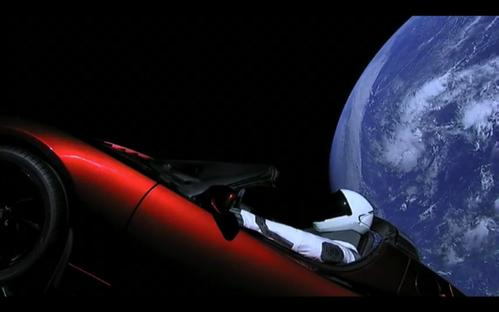 A Tesla in space? Isn't there enough junk up there already?