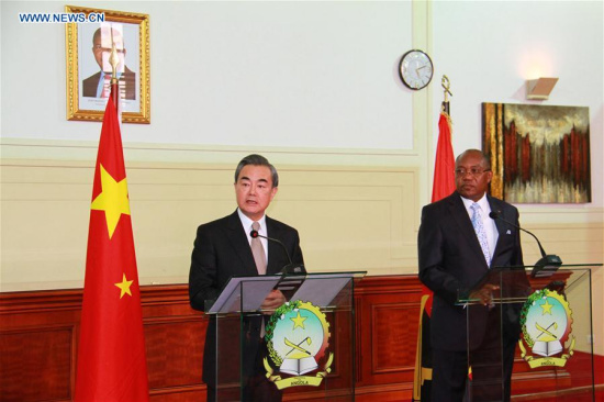 Chinese FM urges transformation, upgrade of Sino-Angolan cooperation