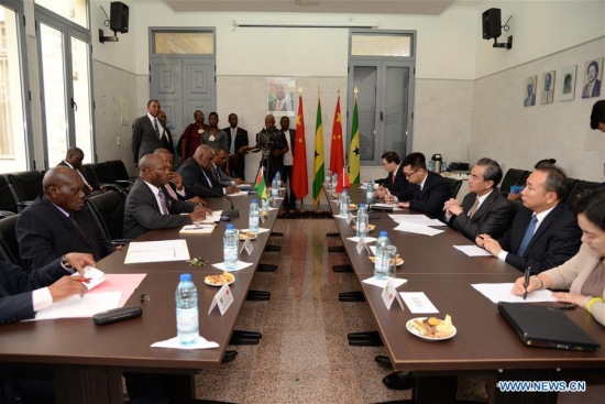 Chinese FM meets Sao Tome and Principe counterpart