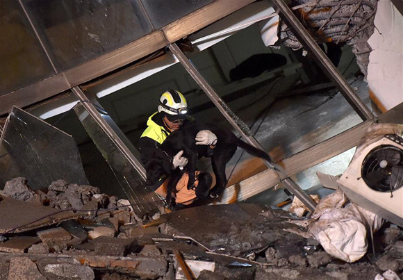 Taiwan quake kills 12, search interrupted by gas smell