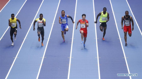 China's Su and Xie reach men's 60m semifinals at indoor worlds