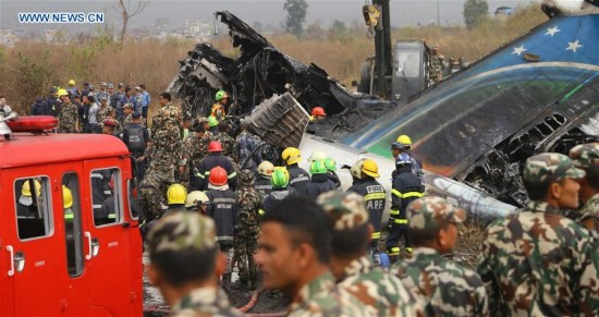 Chinese passenger dies in Nepal plane crash